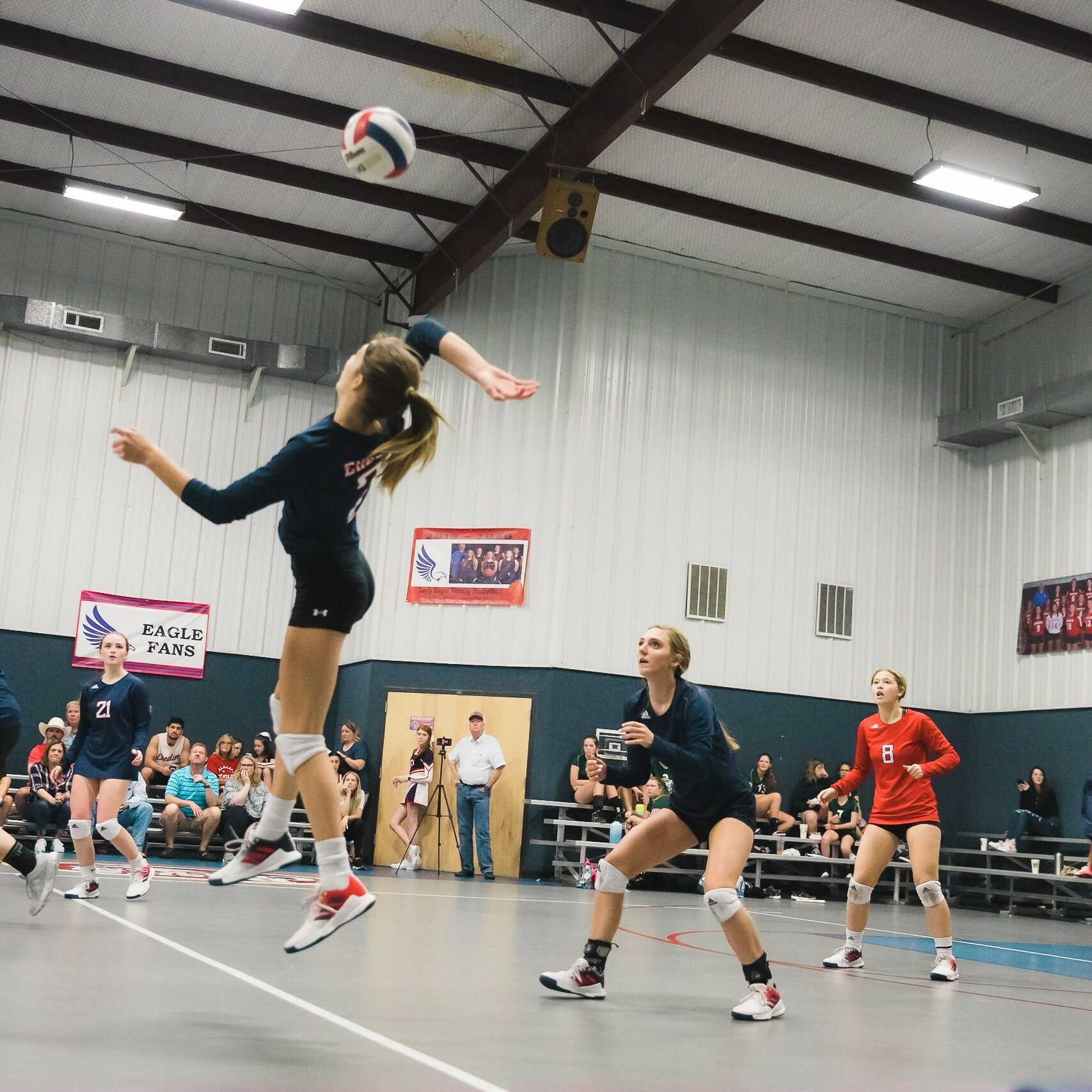 Volleyball action shot